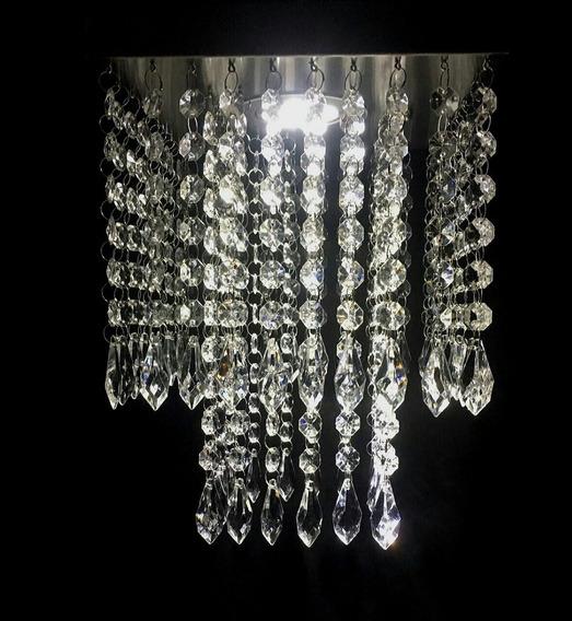 Lustre De Cristal Acrílico 20x20 Montado C/iluminação Grátis