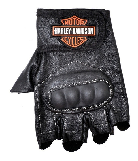 Luva Em Couro Harley Davidson Lancamento Promocao