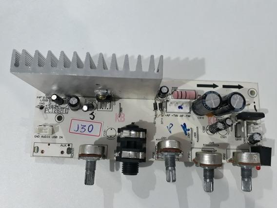 Placa De Potência Amplificador Da Caixa De Som Frahm Mf 250.