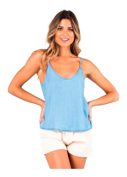 Musculosa Mujer Rusty Bounds Denim