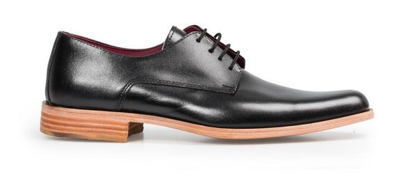 Tremendo Zapato De Hombre Vestir Sport Negro Suela Cuero