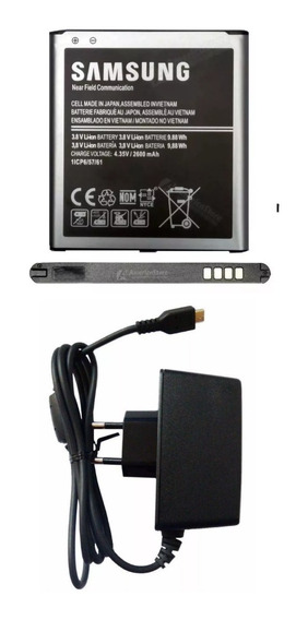 Kit Bateria G530 Gran Prime J2 Prime J3 J5 + Carregador Usb