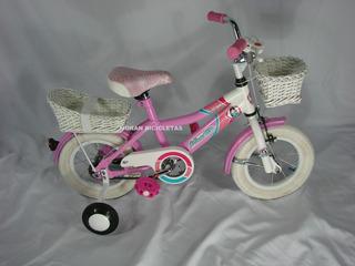 Bicicleta Musetta R12 Betty Blue Rosa Mimbre