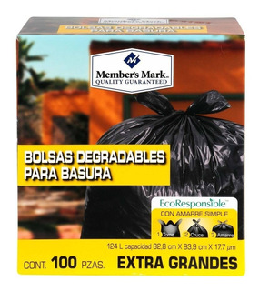 Bolsa Basura Biodegradable Extra Grande Member`s Mark 100pzs