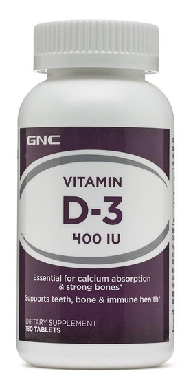 Vitamina D3 400 Iu - 100 Servicios