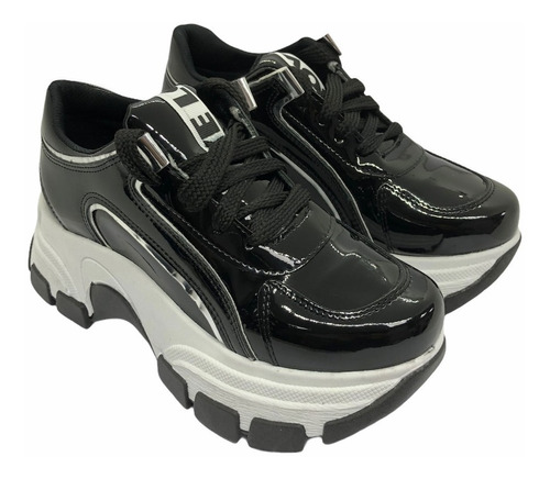 Imagen 1 de 5 de Zapatos Zapatillas Sneakers Urbana Mujer Plataforma Moda 500