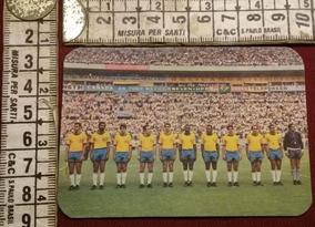 Antigo Calendário De Bolso Seleção Brasileira Copa Mundo 70