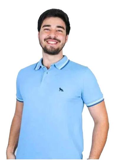 Camisa Polo Acostamento Masculina Original Slim Fit Promoção