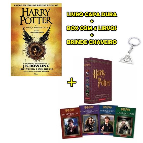 Harry Potter Livro 8 + Guia Cinematográfico 4 Livros + Brind