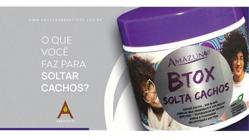 Botox Solta Cachos Amazun Btox Anti Frizz 500g