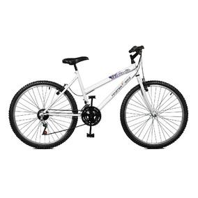 Bicicleta Aro 26 Feminina Emotion 18 Marchas Branco Master B