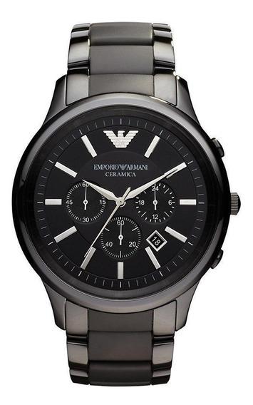 Reloj Análogo Marca Giorgio Armani Modelo: Ar1451 Color Negr