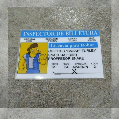 Imagen 1 de 4 de Tarjeta Simpsons Snake, Inspector De Billetera