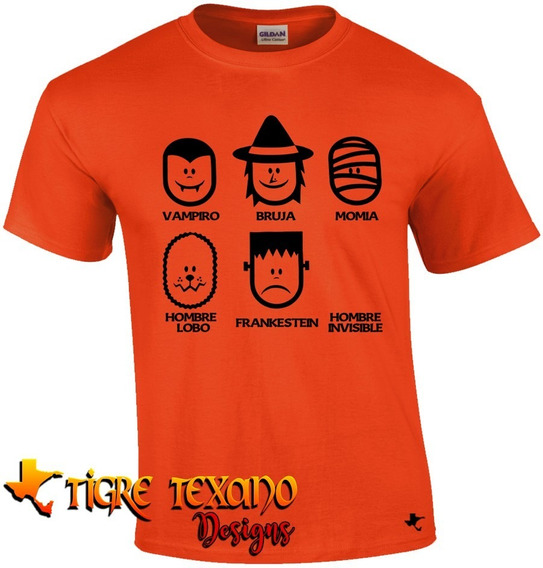 Playera Halloween Invisible Mod. 06 By Tigre Texano Designs