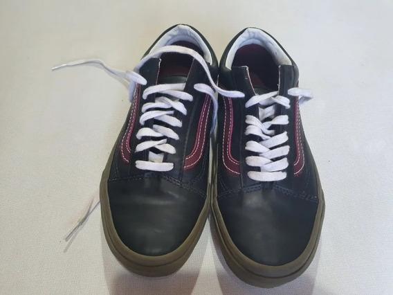 Zapatillas Vans Originales Nro 37 Símil Cuero Impecables