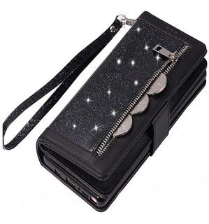 Capa S10 S9 S8 Plus Note 8 9 Bolsa Feminina Multifunções