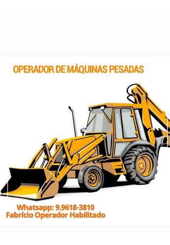 Imagem 1 de 1 de Operador De Máquinas Pesadas - Habilitado