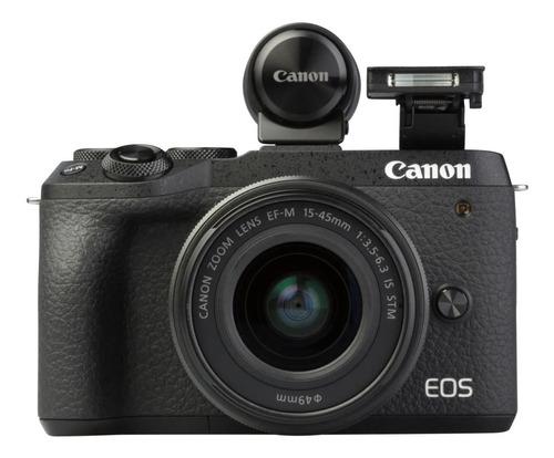 Canon EOS M6 Mark II 15-45mm IS STM Kit sin espejo color  negro