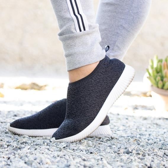 Tênis Leve Tecido Meia Knit Confortável Feminino Lançamento