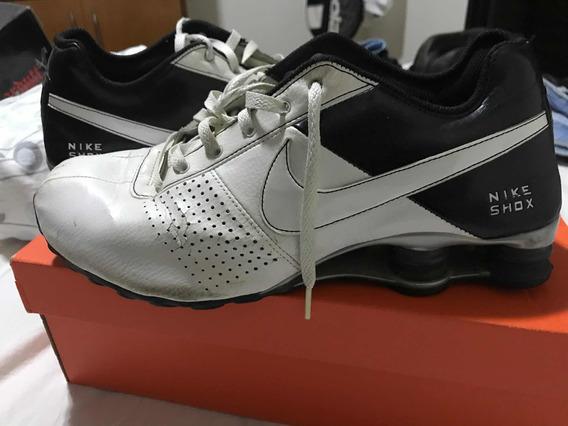 Tenis Nike Shox 42 Branco/preto - 1 Ano De Uso