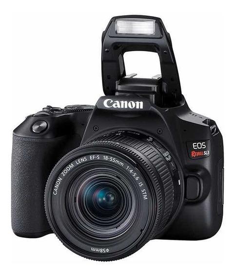 Câmera Canon Eos Sl3 Com Lente 18/55mm Is Stm