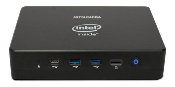 Computador Mini Mitsushiba, J3455 Quad Core, 4gb, Ssd 256gb