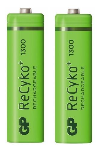 Baterías Pilas Aa De 1300 Mah Recargables Recyko Gp (1045)