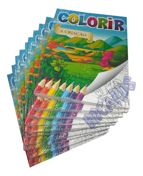 Livros Bíblicos Coleção Ler E Colorir Lote Atacado