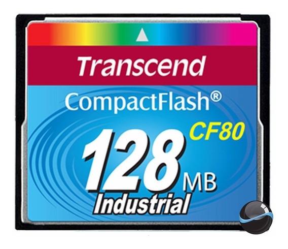 Cartão Memória Compactflash Transcend 128mb Industrial 80x