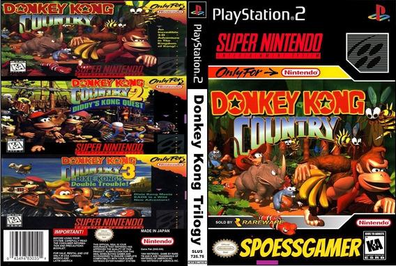 Donkey Kong Trilogy Ps2 (1 Dvd 3 Jogos) Patch
