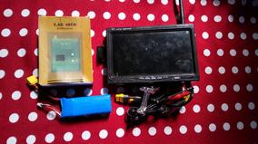 Monitor 7 Polegada Tft Lcd Fpv Tela Não Azul