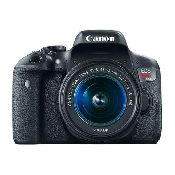 Câmera Canon Eos Rebel T6i 24.2mp Tela De 3.0 + Lente Ef-s