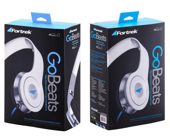 Fone De Ouvido Com Microfone Gobeats Branco Hdp601 Fortrek