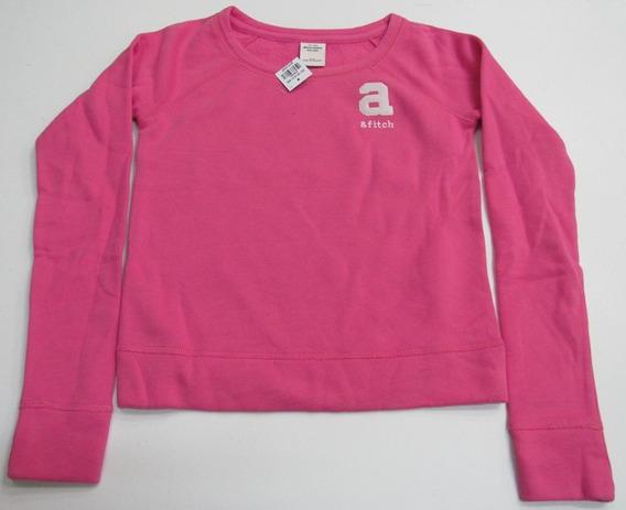 Blusa Moletom Kids Girl Abercrombie Pink Original Dos Eua!