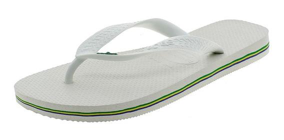Chinelo Masculino Brasil Branco Havaianas - 4000032