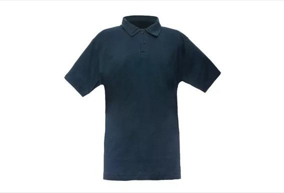 Chomba Pique Colegial M/corta Azul Marino Dirad 2 Al 16