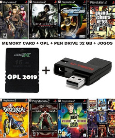 Kit Memory Card + Opl + Pendrive 32gb + Jogos