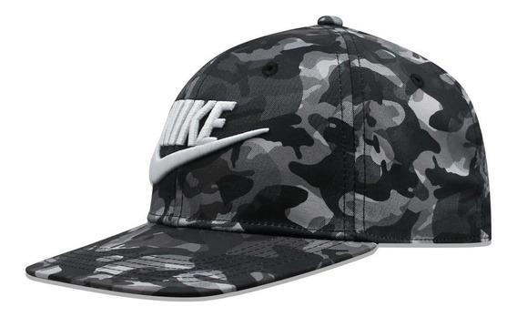Gorra Nike Snapback Cq4985010 Camo Negro