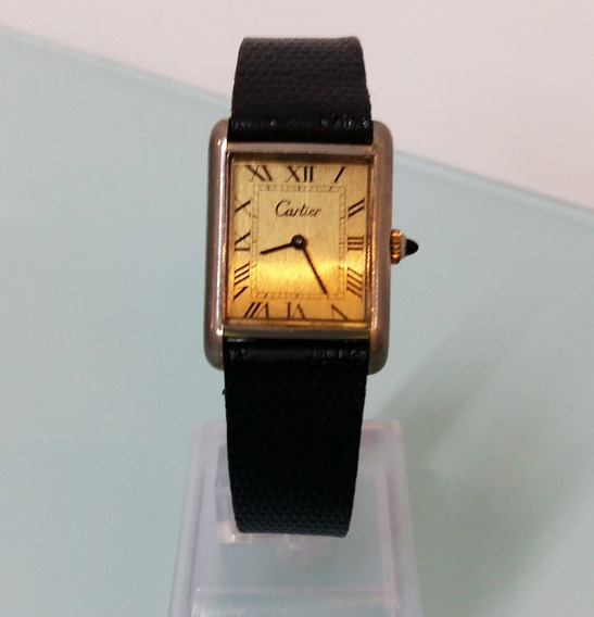 Relógio Cartier Electro.swiss, Plaked 18k Gold. Modelo Tank
