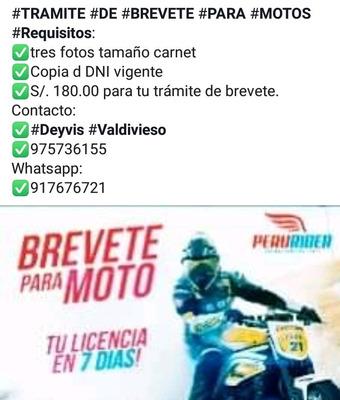 Trámite Licencia Para Moto