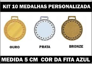 Kit 10 Medalhas 5cm Personalizadas Premiação 3357