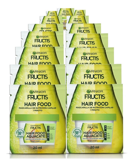 Pack 24 Hair Food Sachet Fructis Garnier Palta Nutricion
