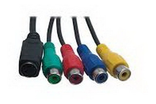 Cable Conector 7 Pin S-video Macho A Hembra Rca (rgb)