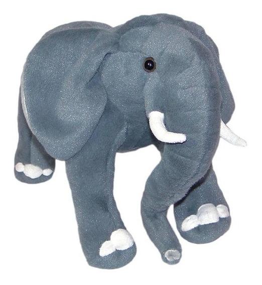 Elefante De Pelúcia Realístico 55cm - Safari Grande