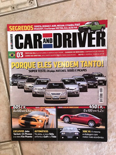 Revista Car And Driver 3 Hatches Sedãs Picapes Corvette