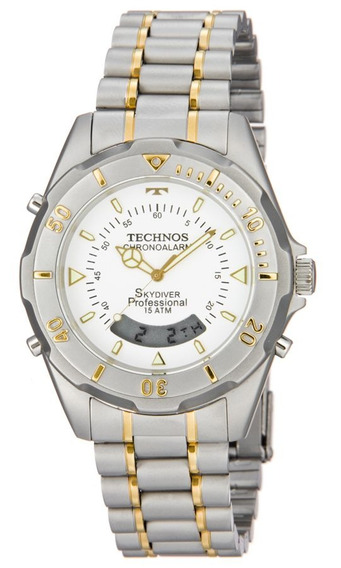 Relógio Technos Masculino Skydiver T20557/9b Bicolor