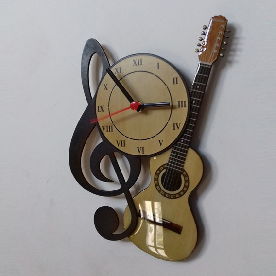 Relógio De Parede Viola Caipira Frete Grátis