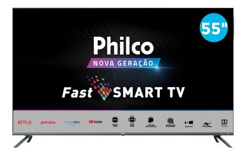 Smart Tv 4k 55  Philco D-led Ultra Hd Ptv55g70sblsg