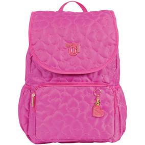 Mochila Capricho Love Pink Grande 3 Bolsos Dmw Original