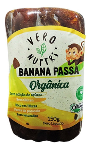 Imagem 1 de 3 de Banana Passa Vero Nuttri Filme Orgânica 150g